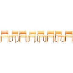 Set of Eight Dining Chairs by Børge Mogensen for Fredericia in Oak, Denmark