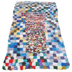 Vintage Colourful Moroccan Boucherouite Rug