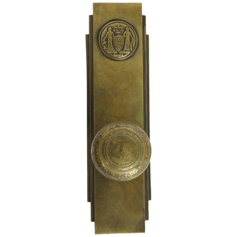 1931 Philadelphia Civic Center Art Deco Door And Plate Set For