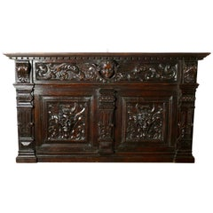 Superbly Carved Early 19th Century French Oak Panel