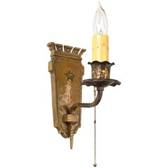 Cast Brass Tudor Sconce, Quantity Available