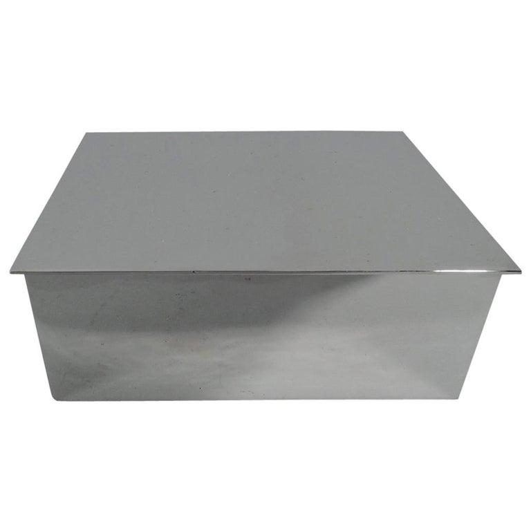 Tiffany Mid-Century Modern Sterling Silver Desk Box