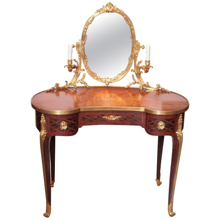 19th Century French Louis XV Signed Dressing Table