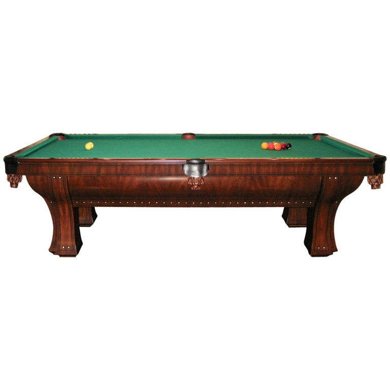 Brunswick Medalist S Pool Table Arts And Crafts Style For Sale - Lucite pool table