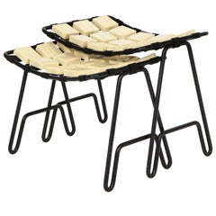 """Two Yellen """"Checkerboard Collection"""" Nesting Stools"""