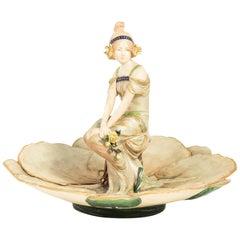 Figural Art Nouveau Dish