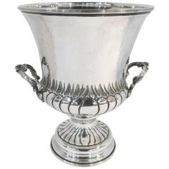 Hand-Hammered, Sterling Silver Champagne Bucket / Ice Bucket / Wine Cooler