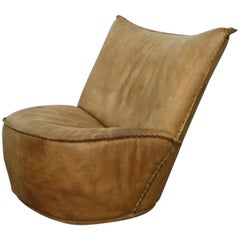 """Rare Geoffrey Harcourt for Artifort """"Model 988"""" Leather Lounge Chair, 1975"""