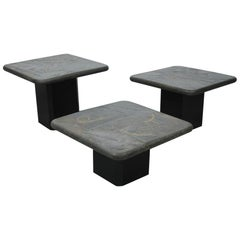 Trio of Marcus Kingma Stone Coffee Tables, Dutch Design, 1970s