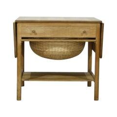 """Hans J. Wegner """"AT33 / PP33"""" Sewing Table for PP Mobler, Denmark, 1953"""
