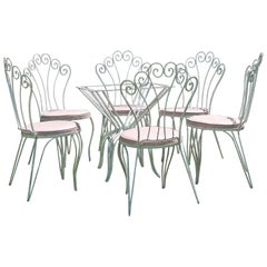 Rene Prou Style Wrought Iron Patio Set