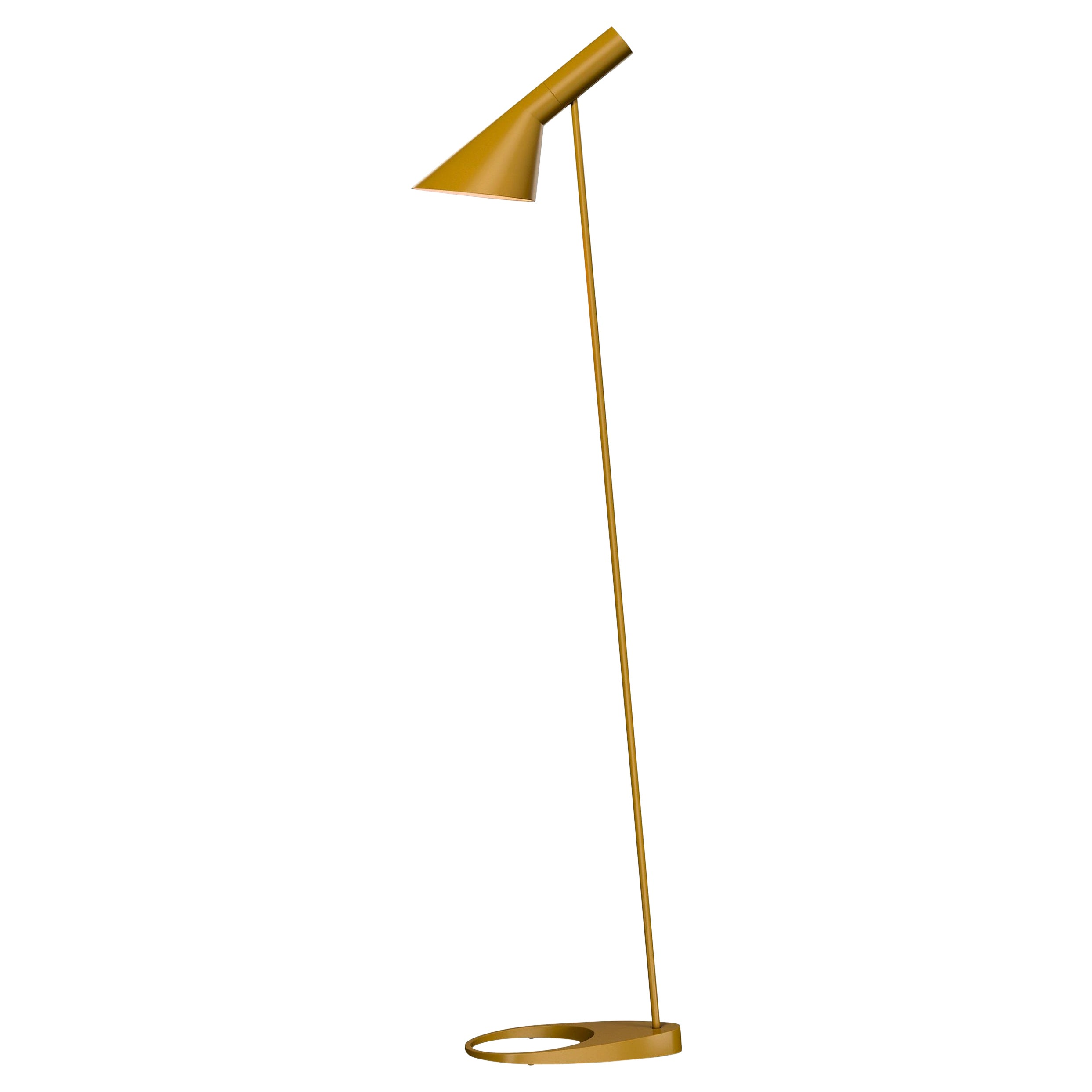 Arne Jacobsen AJ Floor Lamp in Yellow for Louis Poulsen