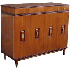 Handsome and Rare American Midcentury Walnut Dressing Cabinet by Widdicomb