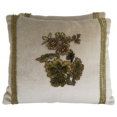 Pair of Pillows with French Floral Applique