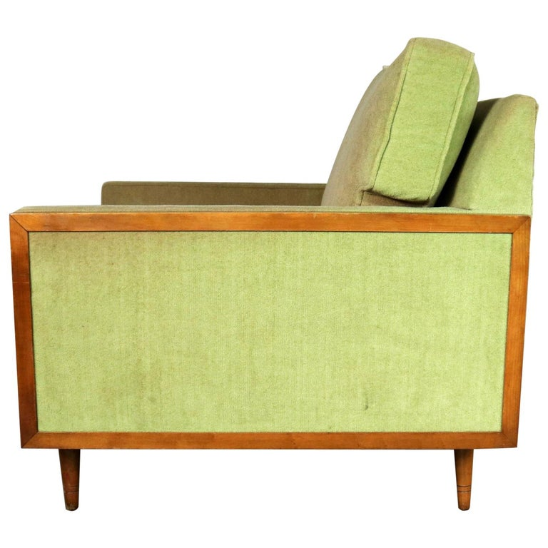 Mid-Century Modern Cube Lounge Club Chair Style of Milo Baughman