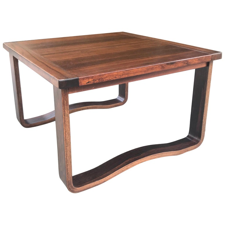 Chic 1960s Westnofa Modern Rosewood Cocktail Table, Norway For Sale