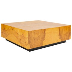 Square Burlwood Coffee Table