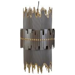 Brutalist Metal Pendant Lamp