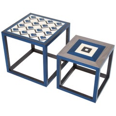 Coffee table Partenope in traditional marquetry, made in Sorrento