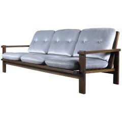 Scandinavian Baby Blue Three-Seat Sofa, 1960s