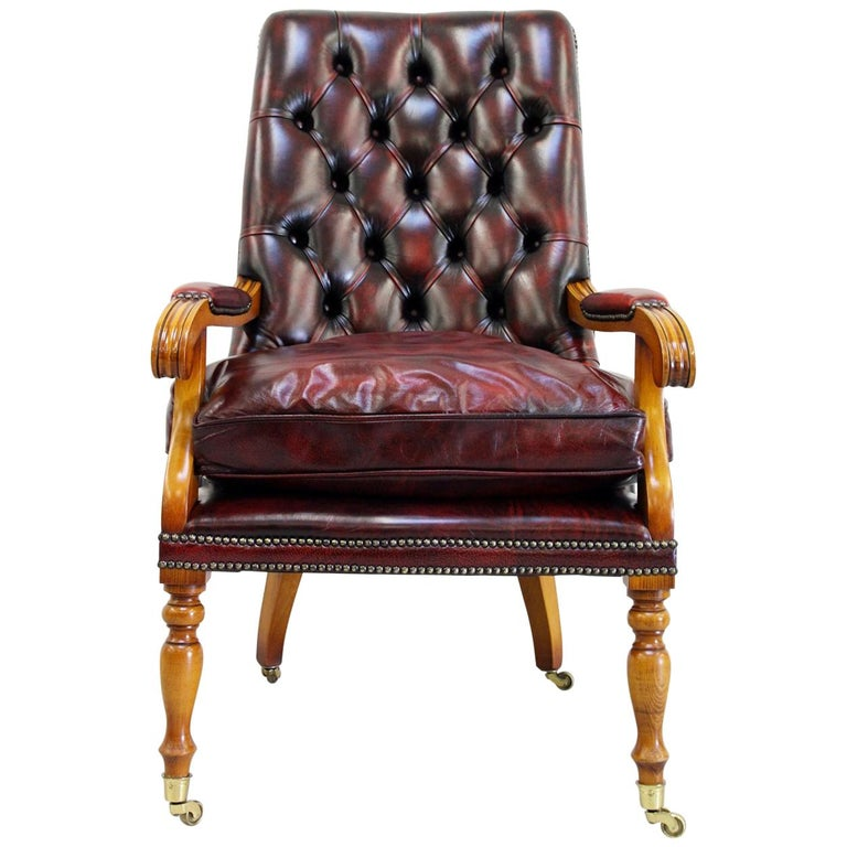Office Chair Antique Chesterfield Armchair Office Chair Leather Vintage  Chair For Sale - Office Chair Antique Chesterfield Armchair Office Chair Leather