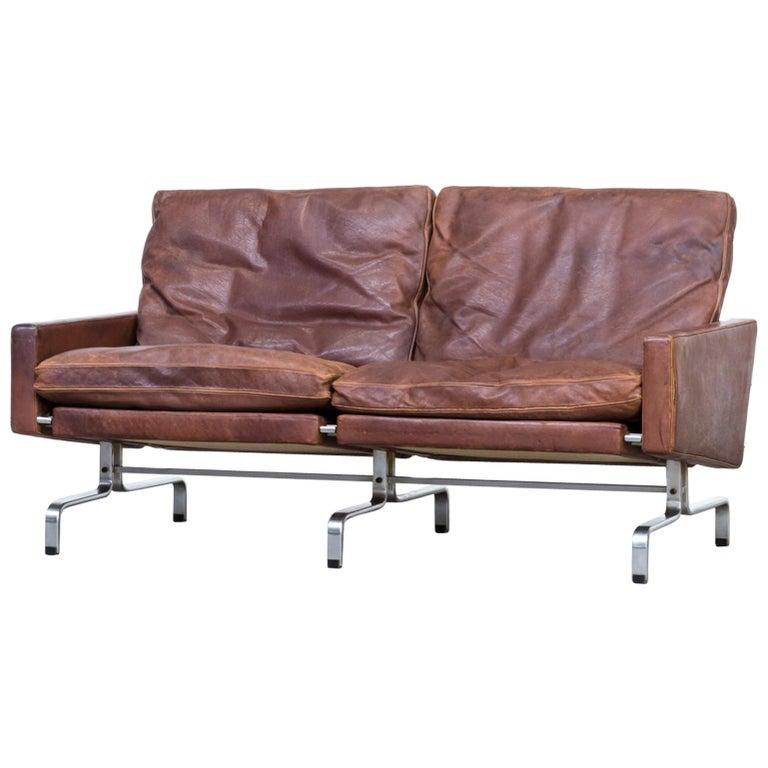 1970s Poul Kjaerholm Pk31/2 Sofa for E. Kold Christensen