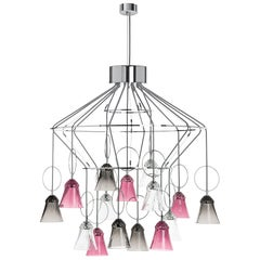Saint-Louis Apollo 15-Light Crystal Chandelier in Clear, Amethyst and Gray