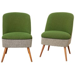 Sitting Group of Green and Gray 1950s Coctail Lounge Chairs,Switzerland