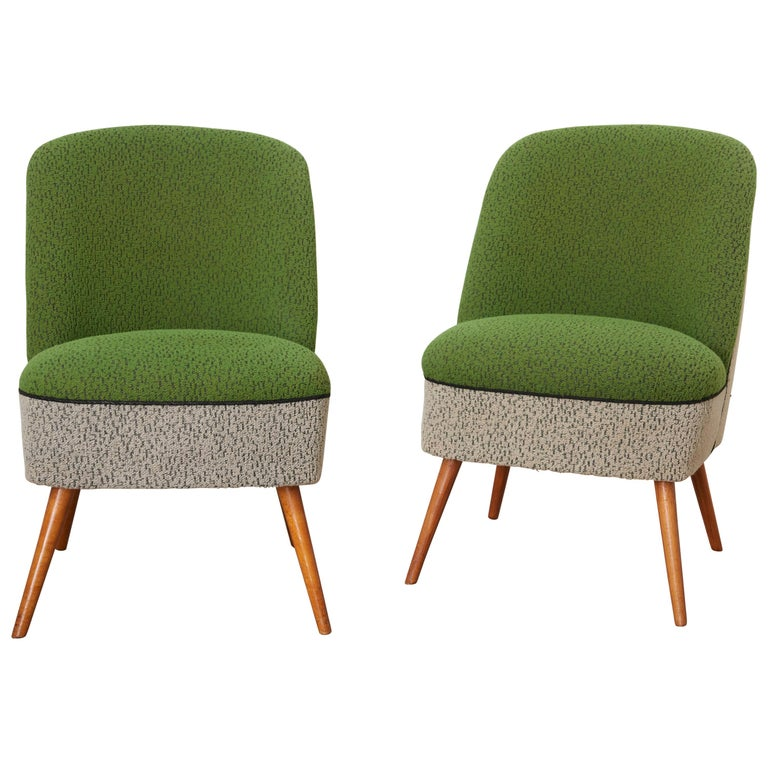 Sitting Group of Green and Gray 1950s Coctail Lounge Chairs,Switzerland For Sale