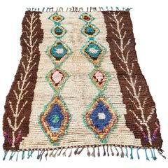 Vintage Multicolored Moroccan Ourika Rug