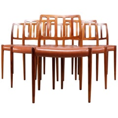 Midcentury Rosewood Dining Chairs by Moller Model 83