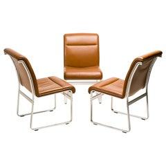 Set of Three Karl Erik Ekselius Chairs for Joc, Sweden