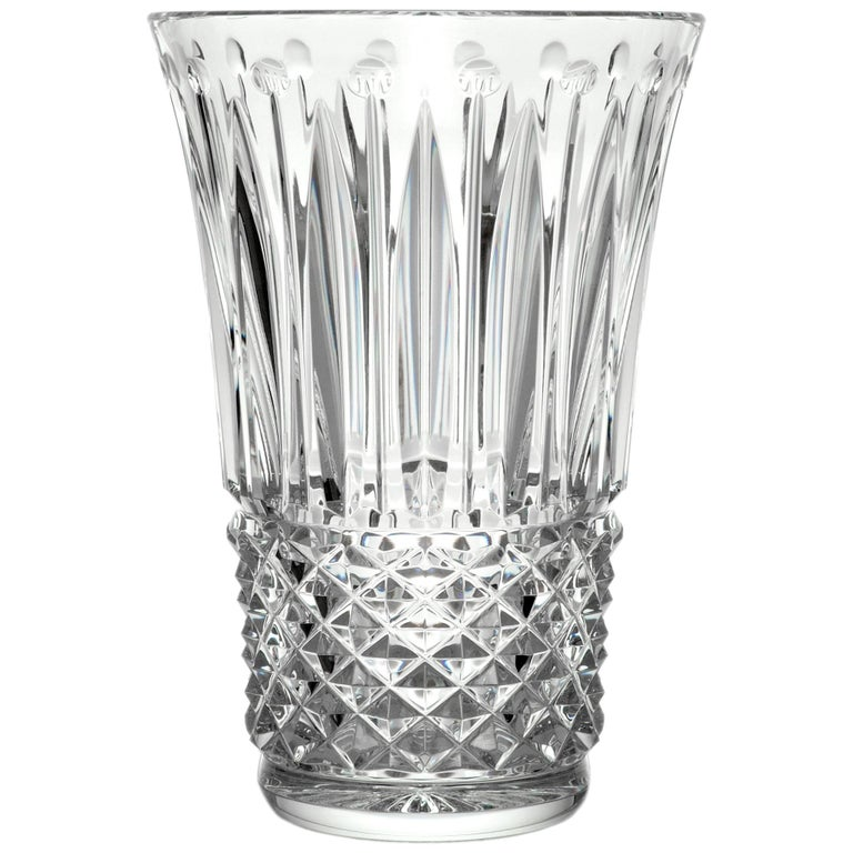 Saint Louis Tommyssimmo Small Crystal Vase In Clear For Sale At 1stdibs