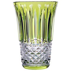 Saint-Louis Tommyssimmo Crystal Vase in Chartreuse Green
