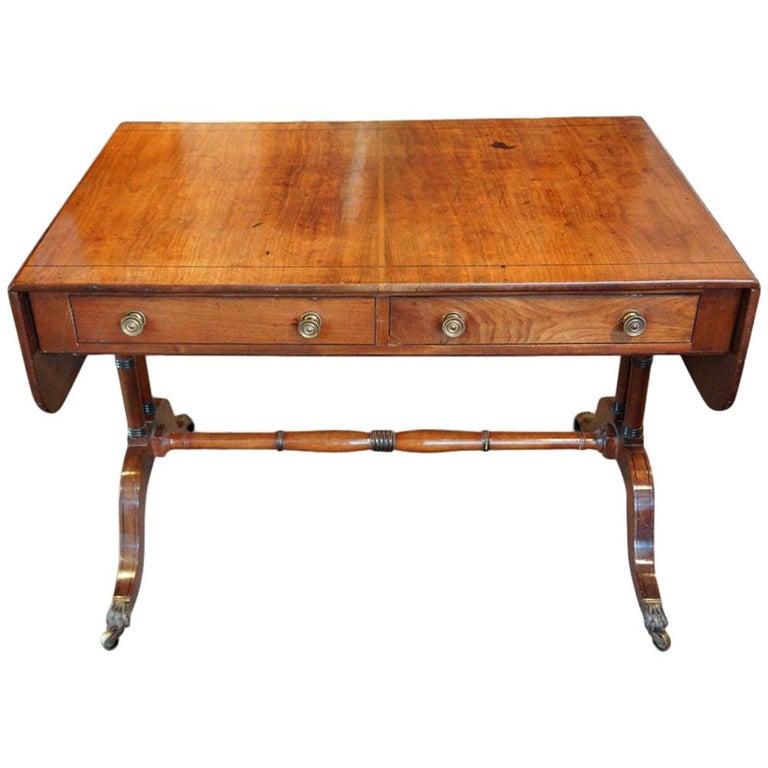 Fine regency mahogany sofa table for sale at 1stdibs regency mahogany sofa table watchthetrailerfo