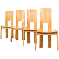 Midcentury Rare and Firm Set of Dining Chairs Set of Four