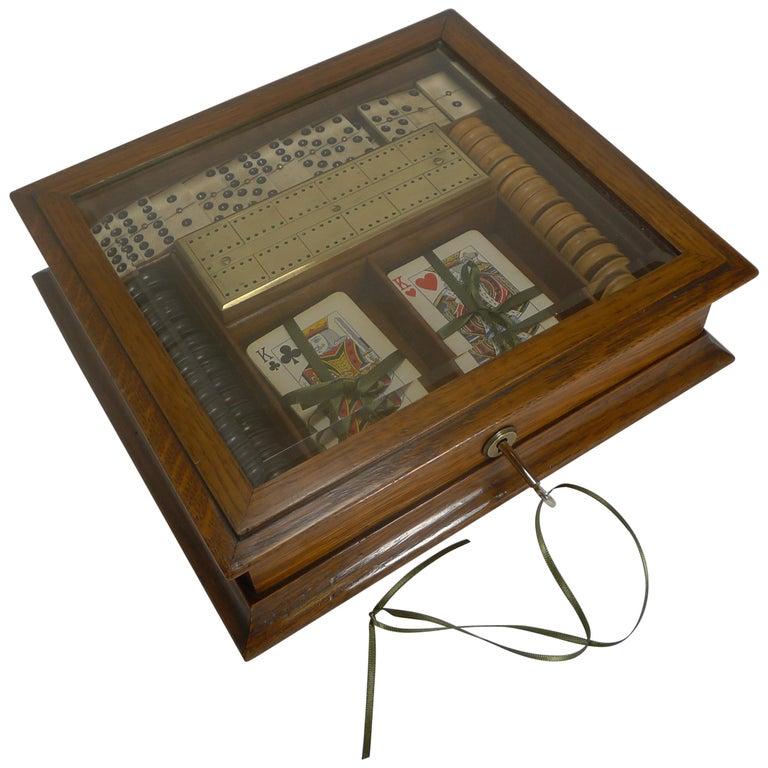 Antique English Games Box, circa 1890-1900