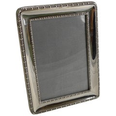 Smart Antique English Sterling Silver Photograph Frame, 1918