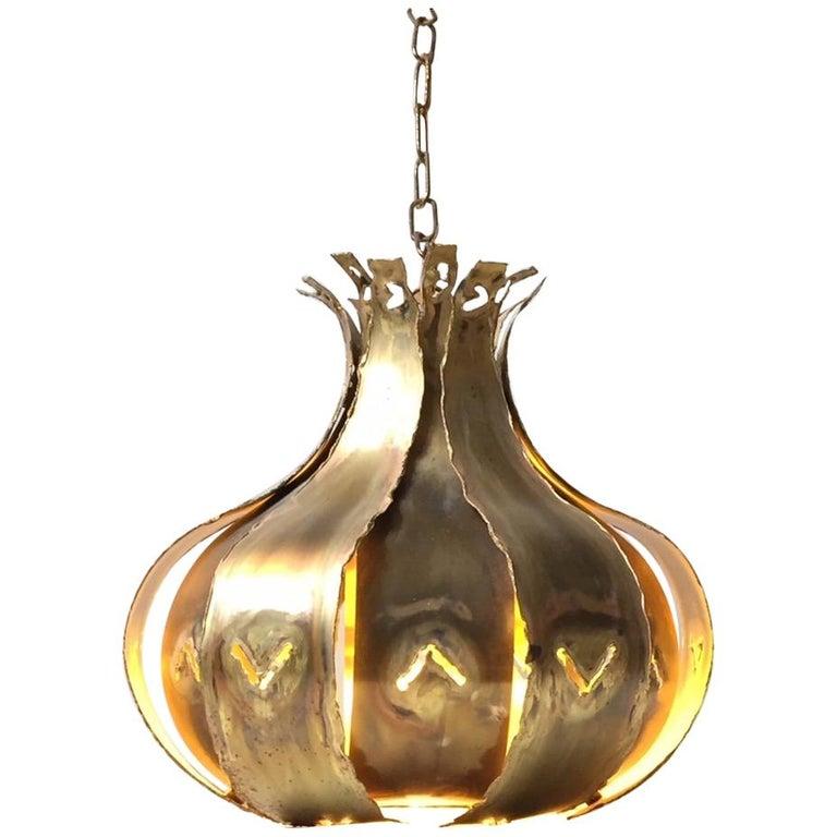 Brutalist Pendant Lamp by Svend Aage Holm-Sørensen for Holm-Sørensen & Co.