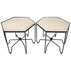 Cool Pair of Mid-Century Modern Six-Sided Salterini End Tables