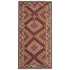 Vintage Kilim Rugs, Traditional Rugs, Persian Carpet Runner by Qashqai Tribe