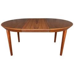 Extendable Danish Teak Dining Ole Hald Table, 1960s