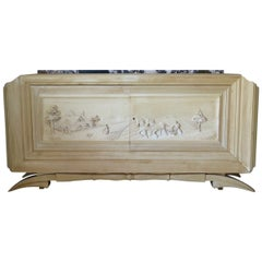 Large Carved Credenza, France