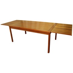Midcentury Danish Modern Extendable Teak Dining Table