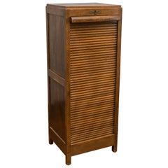 Oak Roll Front File Cabinet, circa 1900