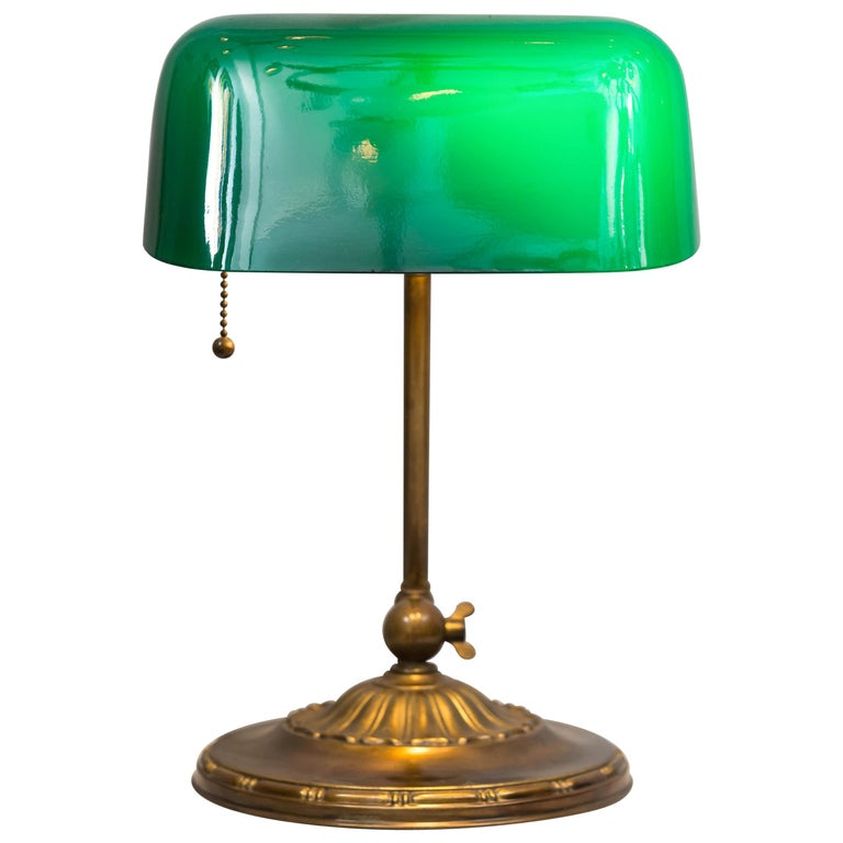 Green Shade Banker's Lamp, circa 1917 by the Emeralite Co.