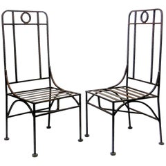 Giacometti Style Bronze Patina Occasional or Dining Chairs