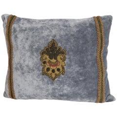 Pair of Metallic Fleur-de-Lys Velvet Pillows