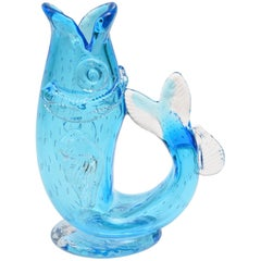 Blown Glass Gurgling Cod Pitcher Or Vase, Many Colors Available