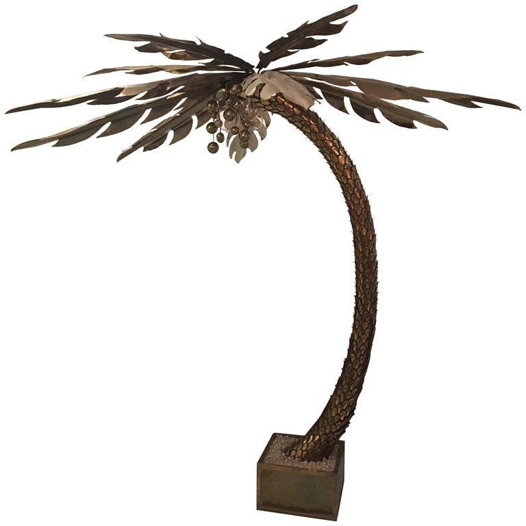 Maison Jansen Huge Palm Tree Floor Lamp